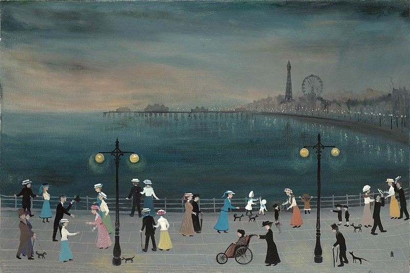 Helen Bradley The Last Evening at Blackpool 97919 20. часть 2 -- European art Европейская живопись