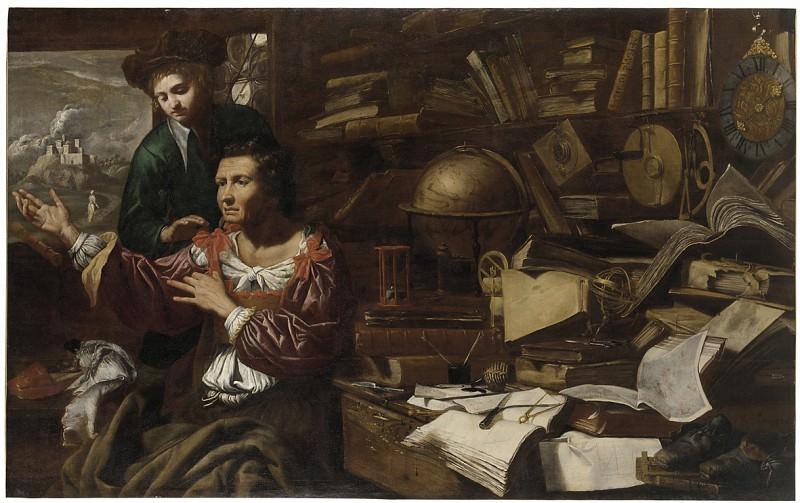 Domenico Maroli Euclid of Megara Dressing as a Woman to Hear Socrates Teach in Athens 67539 203. часть 2 -- European art Европейская живопись