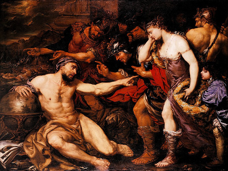 Лангетти, Джованни Баттиста - Архимед с аллегорическими фигурами Войны и Мира. часть 2 - европейского искусства Европейская живопись