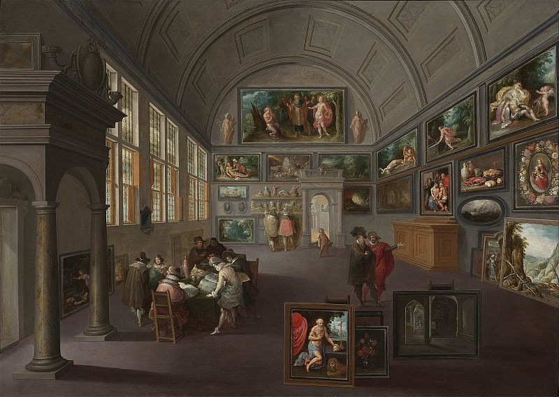 Frans Francken The Younger The interior of a picture gallery 28287 20. часть 2 -- European art Европейская живопись