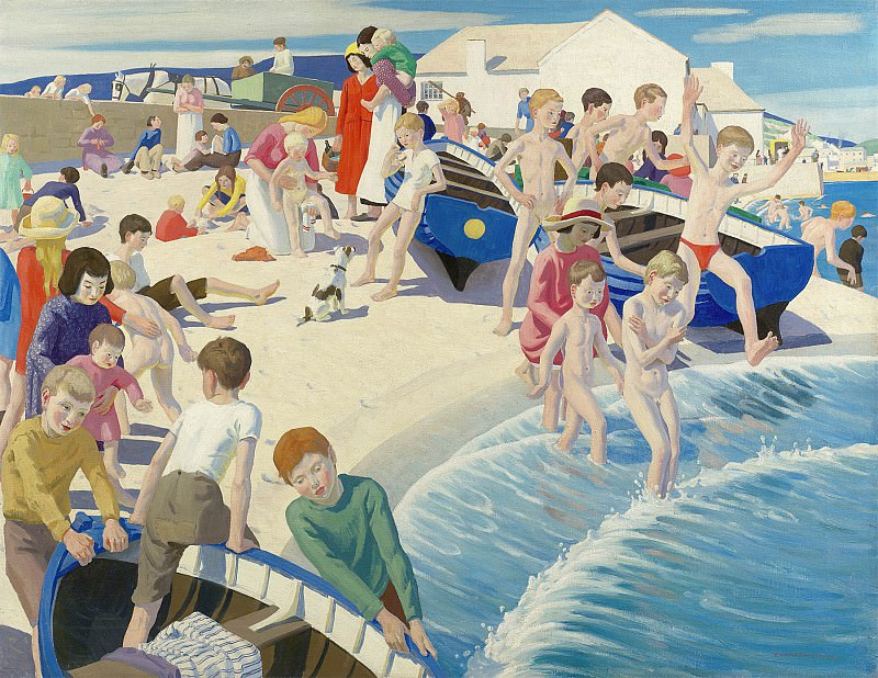 Ernest Proctor On the beach at Newlyn 112559 20. часть 2 -- European art Европейская живопись