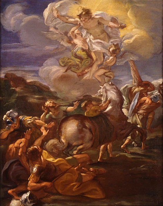 Giovanni Battista Gaulli called Il Baciccio The Conversion of Saint Paul. часть 2 -- European art Европейская живопись