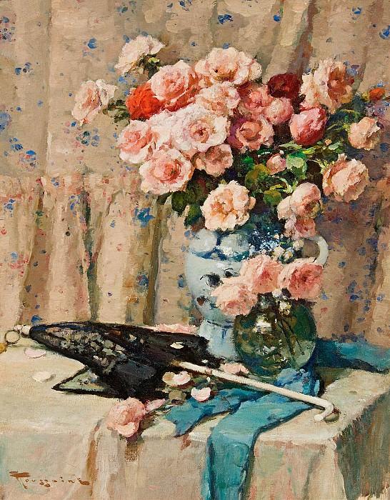 Fernand TOUSSAINT Still Life of Flowers 32160 617. часть 2 -- European art Европейская живопись