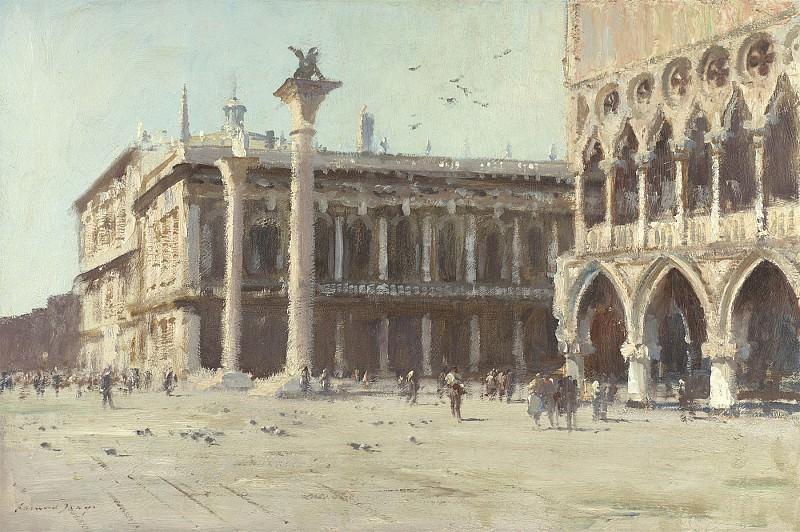 Edward Seago The Sansovino Library Venice 30211 20. часть 2 - европейского искусства Европейская живопись