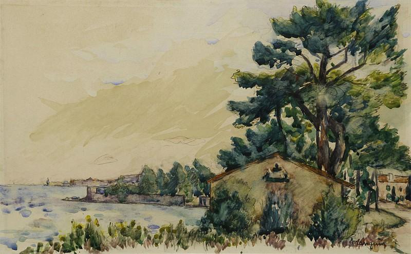 Henri MANGUIN Vue de La Moune Saint Tropez 101939 3449. часть 2 - европейского искусства Европейская живопись