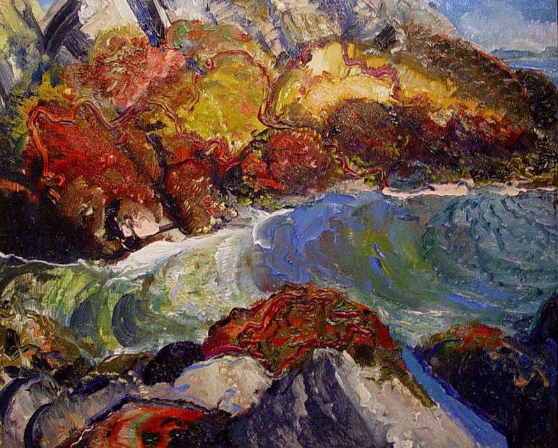 GEORGE WESLEY BELLOWS Kelp Rocks. часть 2 -- European art Европейская живопись