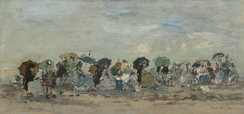Eugene Boudin Sur la plage a Trouville. часть 2 -- European art Европейская живопись