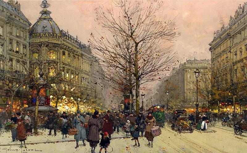 Eugene Galien Laloue Les Grands Boulevards Paris 12046 2426. часть 2 -- European art Европейская живопись