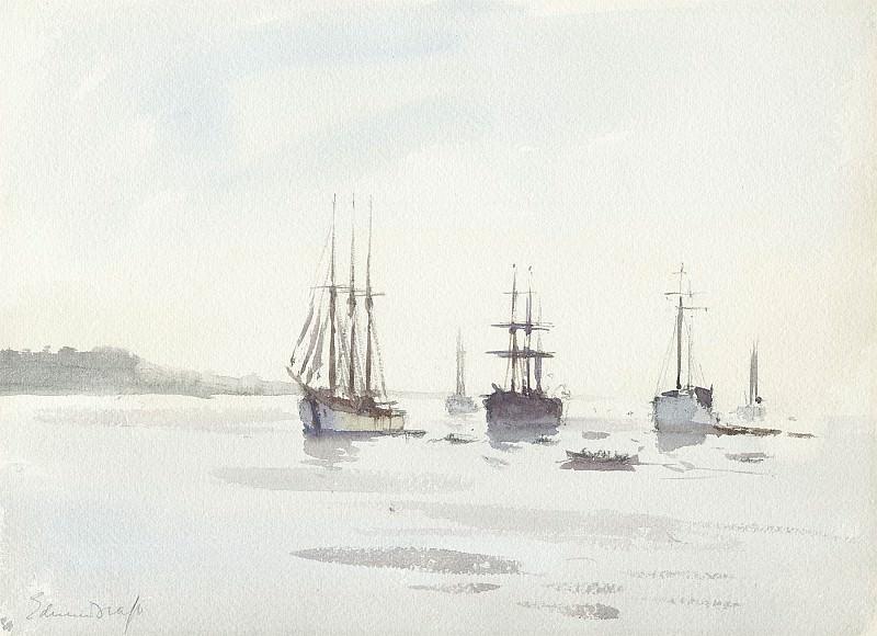 Edward Seago Evening on the Tagus 28582 20. часть 2 -- European art Европейская живопись