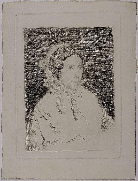 Edgar Degas Dame ГўgГ©e – Old Lady 1859–60 122979 1124. часть 2 -- European art Европейская живопись