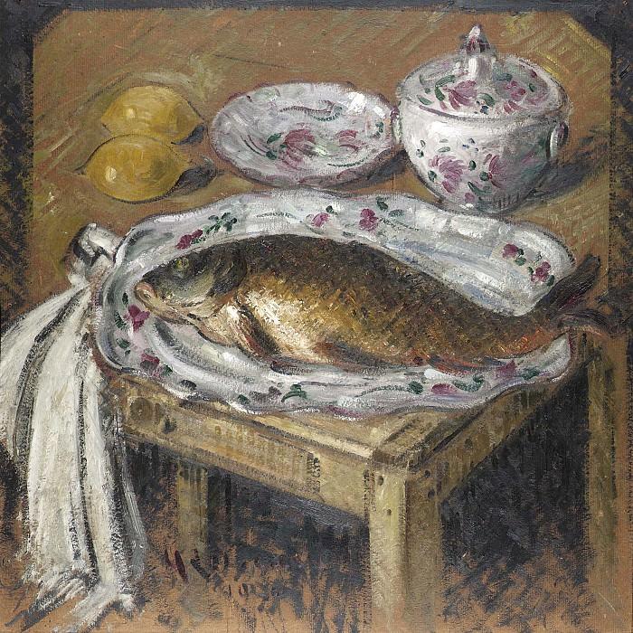 Gustave Loiseau La carpe 17838 1184. часть 2 - европейского искусства Европейская живопись