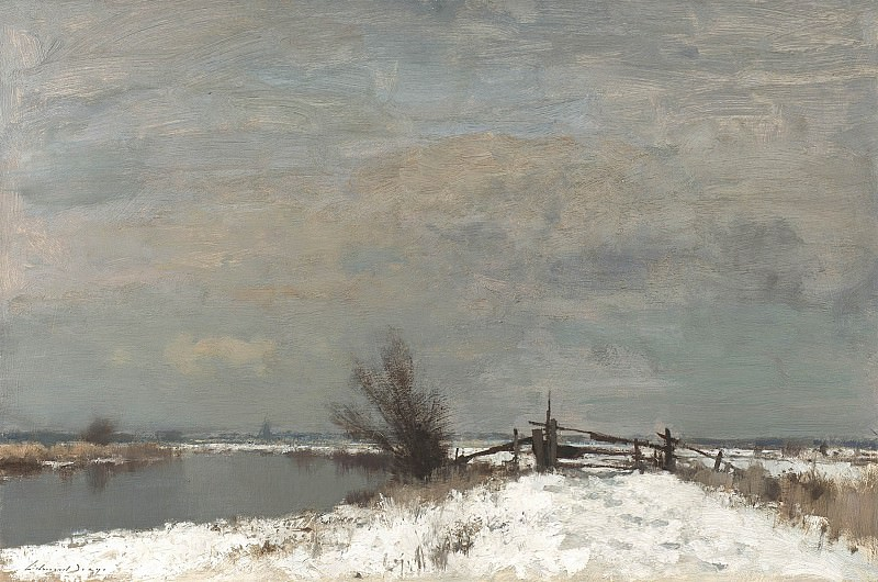 Edward Seago Winter by the Thurne 30214 20. часть 2 -- European art Европейская живопись
