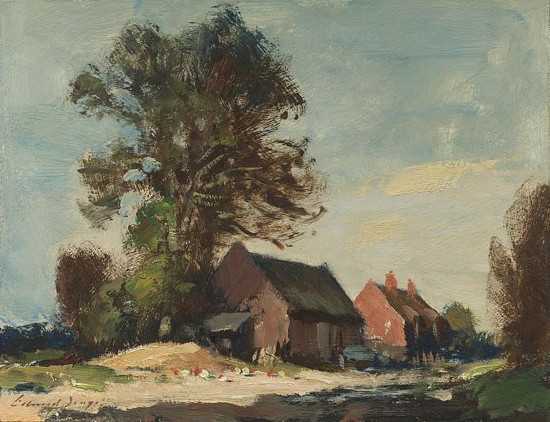 Edward Seago Rolls Barn Ludham 30205 20. часть 2 - европейского искусства Европейская живопись
