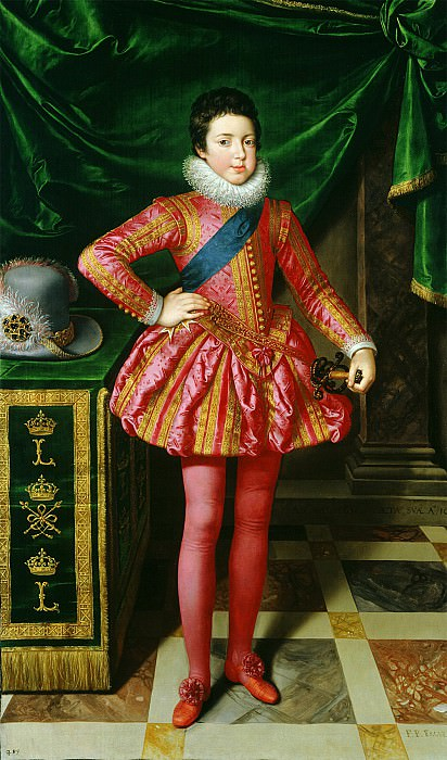 Frans Pourbus the Younger Louis XIII of France i 36785 321. часть 2 -- European art Европейская живопись