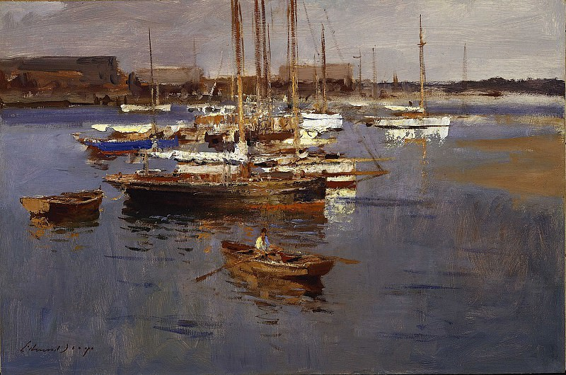 Edward Seago Yachts at Brightlingsea Essex 28603 20. часть 2 -- European art Европейская живопись