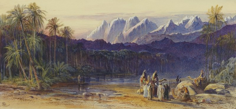 Edward Lear An Arab Encampment in Wadi Feisan Egypt 32992 3606. часть 2 -- European art Европейская живопись