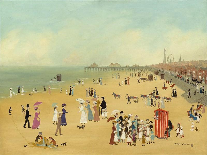 Helen Bradley Blackpool Sands 97879 20. часть 2 - европейского искусства Европейская живопись