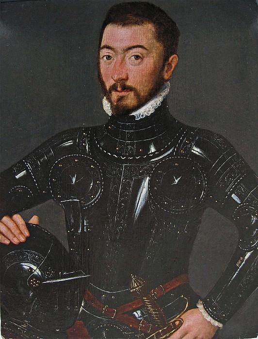 Follower of Corneille de Lyon An Unknown Nobleman in Armour i 32767 321. часть 2 - европейского искусства Европейская живопись