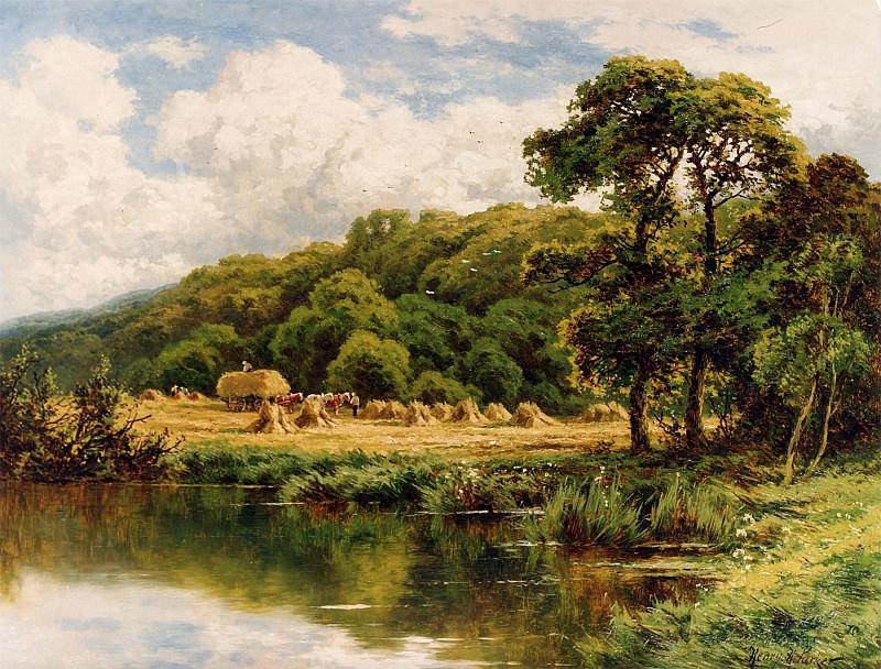 Henry H Parker The Severn Bridge Near Bridgenorth Shropshire 12179 2426. часть 2 -- European art Европейская живопись