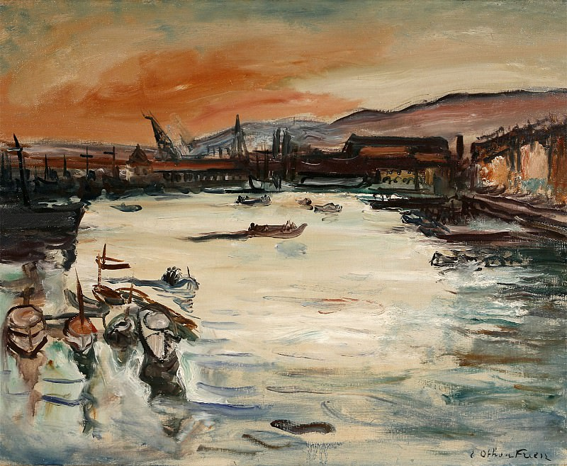 Emile Othon FRIESZ Le port de Toulon 32660 3449. часть 2 - европейского искусства Европейская живопись