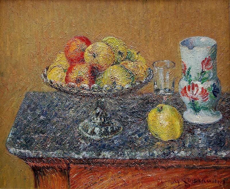 Gustave Loiseau Compotier de pommes et pichet 63699 1184. часть 2 - европейского искусства Европейская живопись