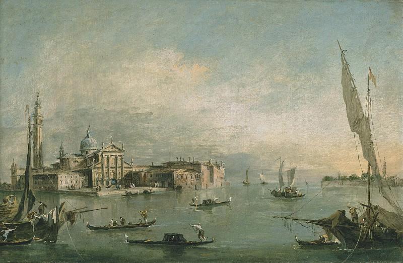 Francesco Guardi A view of the Bacino di San Marco with San Giorgio Maggiore and the Punta della Giudecca 28318 20. часть 2 -- European art Европейская живопись