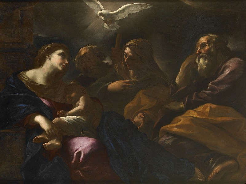 Giovan Battista Beinaschi The Holy Family with Saints Anne and Joachim 27793 203. часть 2 -- European art Европейская живопись