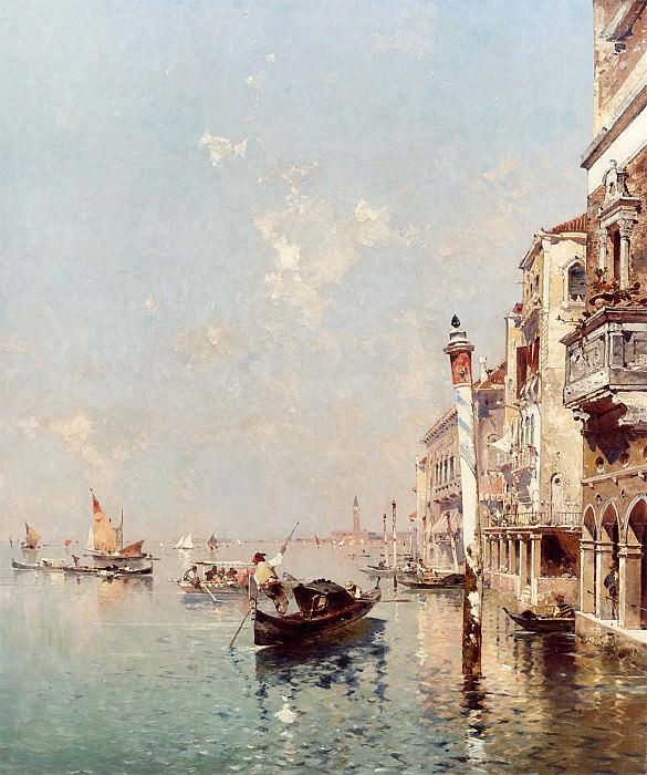 Franz Richard Unterberger The Grand Canal Venice 12288 2426. часть 2 -- European art Европейская живопись