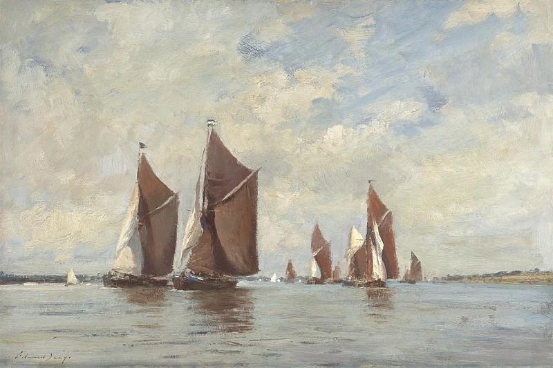 Edward Seago Barge race on the Orwell 30197 20. часть 2 -- European art Европейская живопись