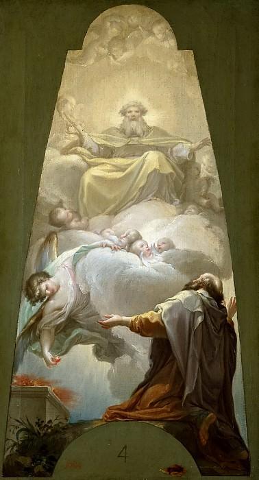 Bayeu y Subías, Francisco -- La vocación del profeta Isaías. Part 5 Prado Museum