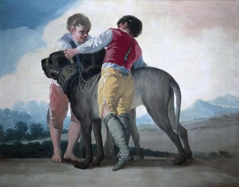 Гойя и Лусиентес, Франсиско де -- Дети с собаками. часть 5 Музей Прадо