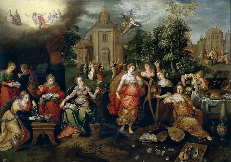 Lisaert, Pieter -- Las vírgenes necias y las vírgenes prudentes. Part 5 Prado Museum