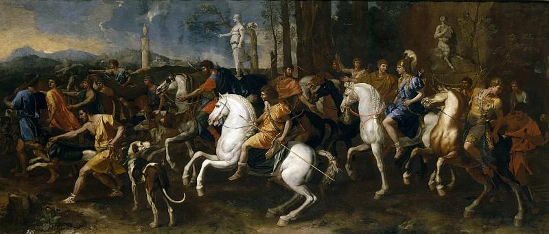 La caza de Atalanta y Meleagro. Nicolas Poussin
