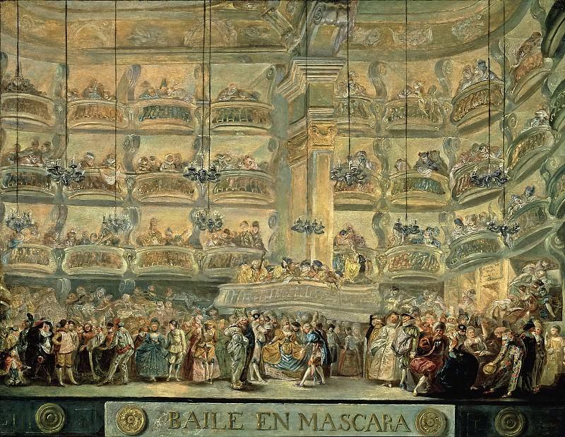 Paret y Alcázar, Luis -- Baile en máscaras. Part 5 Prado Museum