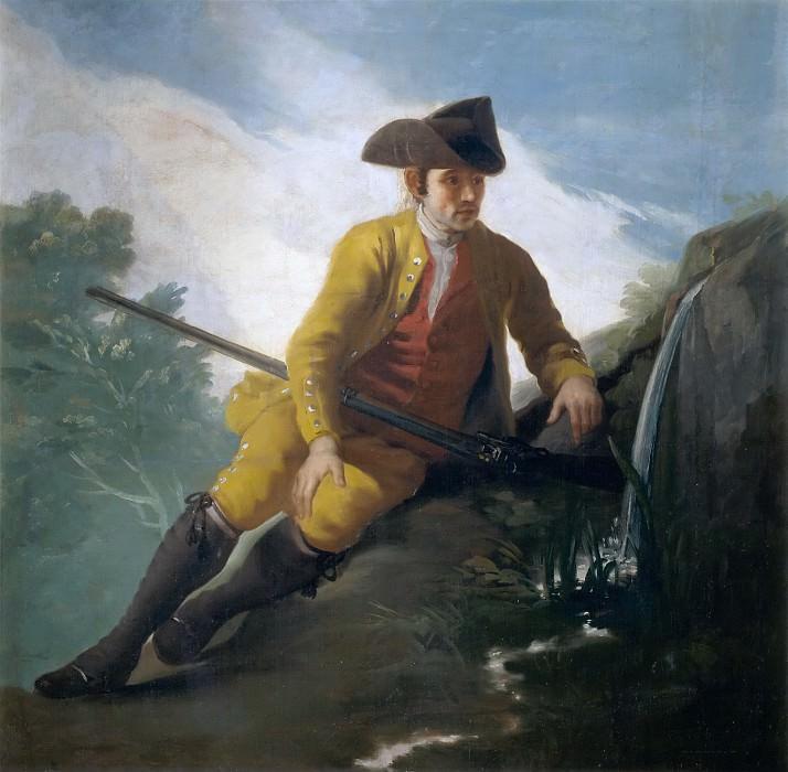 Goya y Lucientes, Francisco de -- Cazador al lado de una fuente. Part 5 Prado Museum
