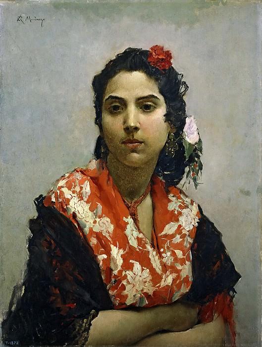 Madrazo y Garreta, Raimundo de -- Una gitana. Part 5 Prado Museum