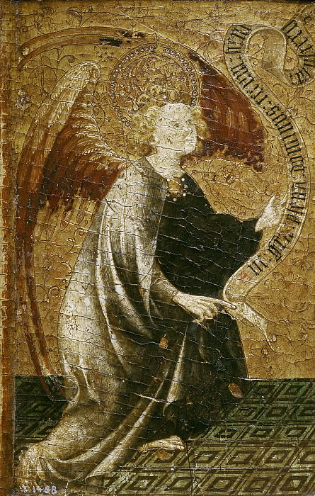 Хайме Матеу(приписывается) -- Архангел Гавриил. часть 5 Музей Прадо