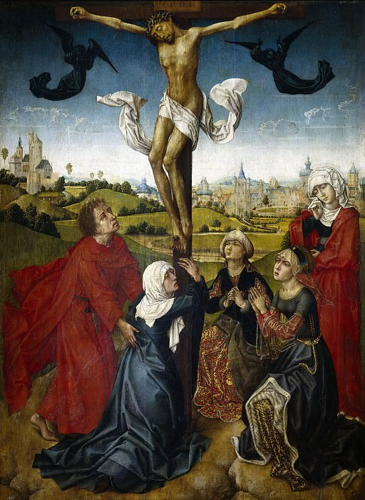 Maestro de la Leyenda de Santa Catalina -- La Crucifixión. Part 5 Prado Museum