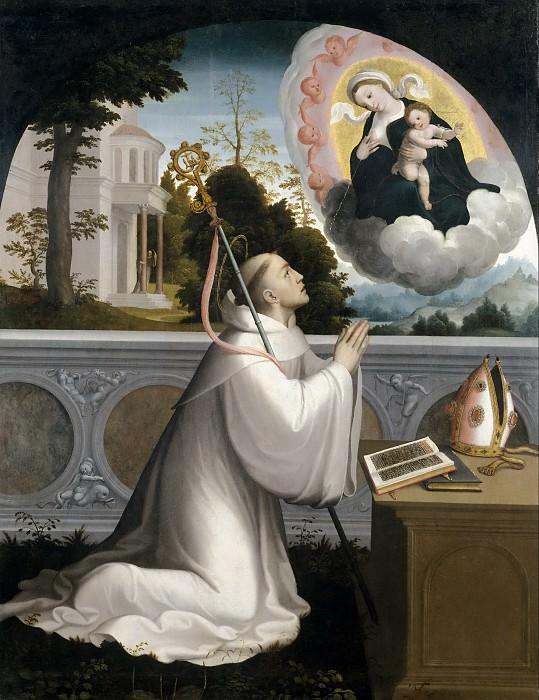 Correa de Vivar, Juan -- Aparición de la Virgen a San Bernardo. Part 5 Prado Museum