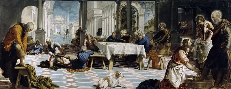 Tintoretto, Jacopo Robusti -- El Lavatorio. Part 5 Prado Museum