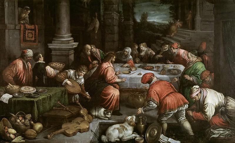 Bassano, Leandro -- Las Bodas de Canaán. Part 5 Prado Museum