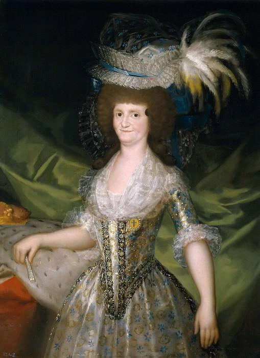 Гойя и Лусиентес, Франсиско де -- Мария Луиза Пармская, королева Испании (реплика гойи). часть 5 Музей Прадо