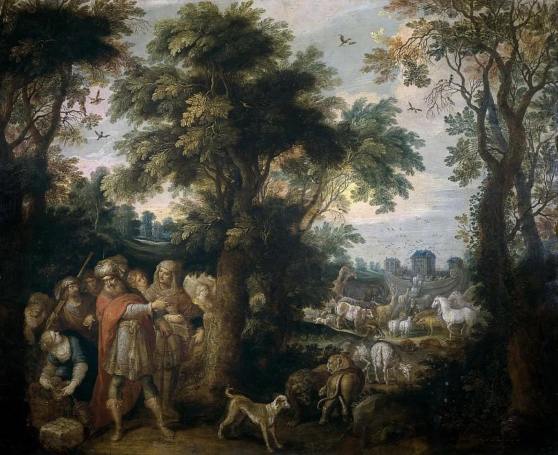 Francken, Frans II -- Noé dirige la entrada de los animales en el arca. Part 5 Prado Museum