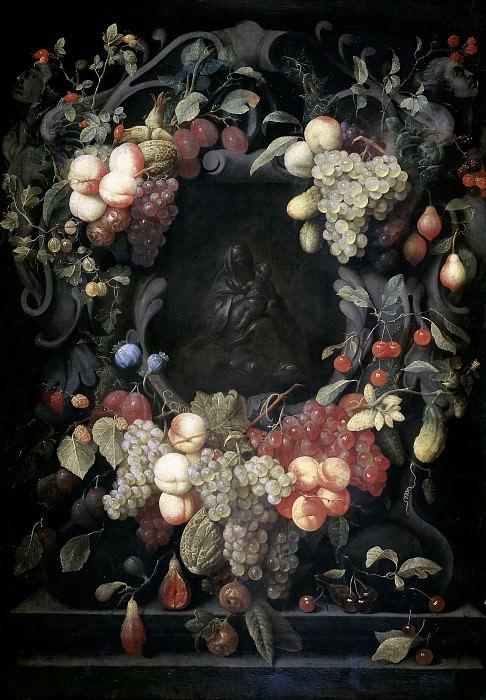 Son, Joris van -- La Virgen con el Niño dentro de un festón de frutas. Part 5 Prado Museum