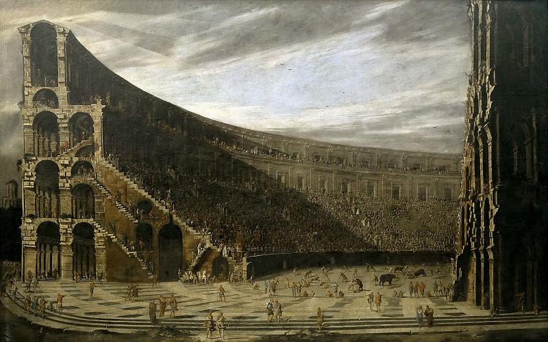 Codazzi, Viviano; Gargiulo, Domenico -- Perspectiva de un anfiteatro romano. Part 5 Prado Museum
