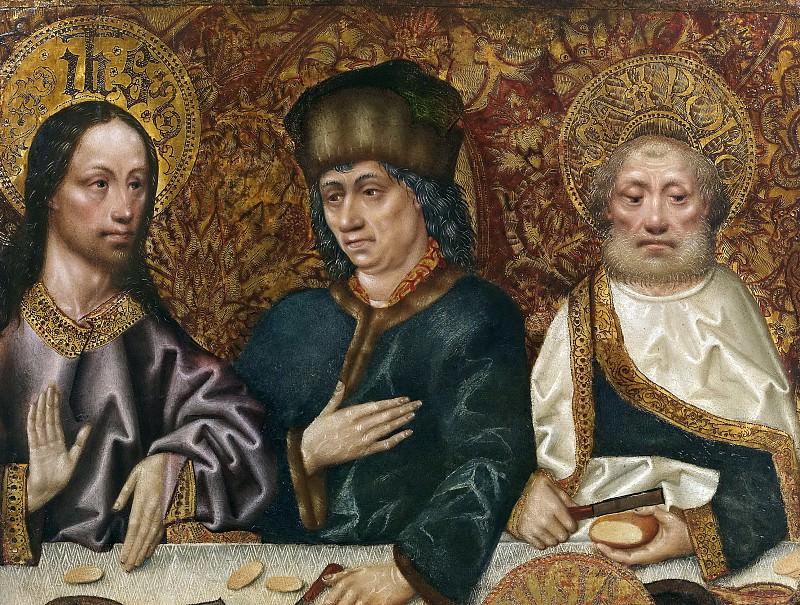Maestro de Robredo -- La cena en casa de Simón (fragmento). Part 5 Prado Museum