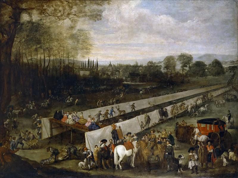 Martínez del Mazo, Juan Bautista -- Cacería del tabladillo en Aranjuez. Part 5 Prado Museum