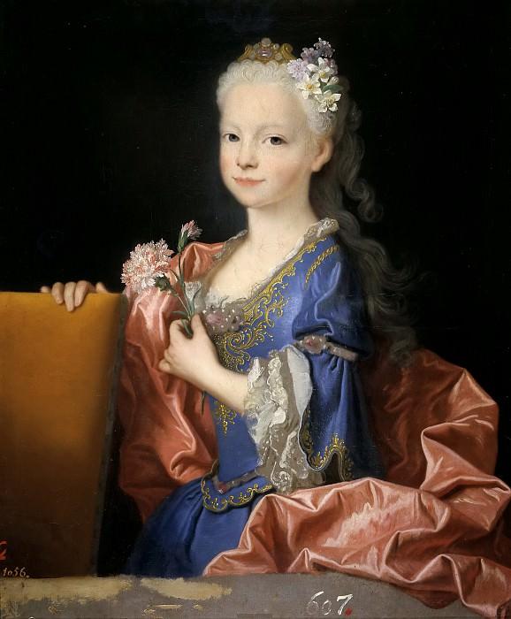 Ranc, Jean -- María Ana Victoria de Borbón, niña (futura reina de Portugal). Part 5 Prado Museum