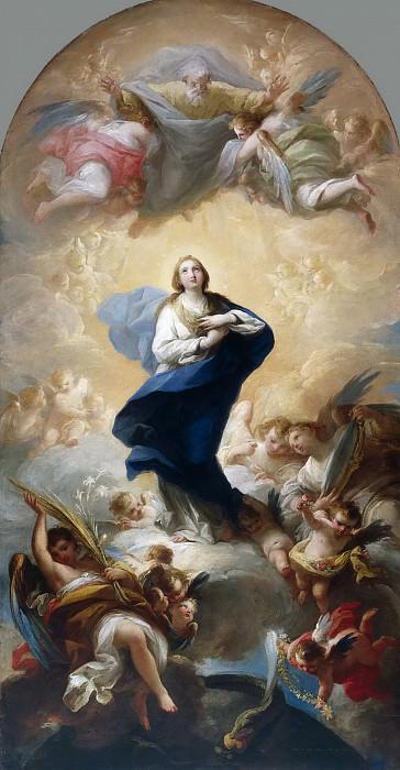 Maella, Mariano Salvador -- La Inmaculada Concepción. Part 5 Prado Museum
