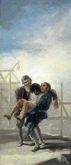 Goya y Lucientes, Francisco de -- El albañil borracho. Part 5 Prado Museum